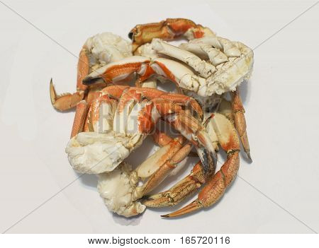 Crab Legs isolated on white background, closeup
