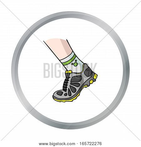 Sneakers icon in cartoon style isolated on white background. Sport and fitness symbol vector illustration.