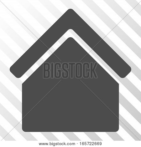Gray Home toolbar pictogram. Vector pictogram style is a flat symbol on diagonal hatch transparent background.