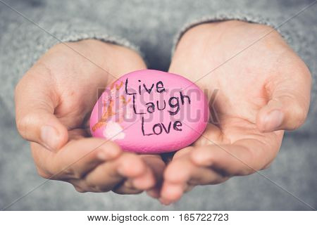 Inspirational Quote Painted On A Rock, Softened On The Edges