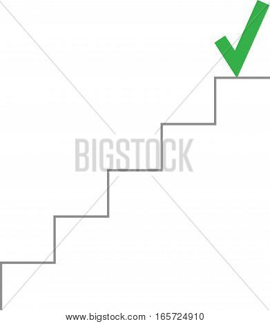 Check Mark On Top Of Stairs