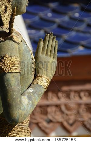 The abstract beautiful buddha image/statue in thailand