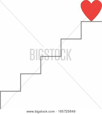 Heart On Top Of Stairs