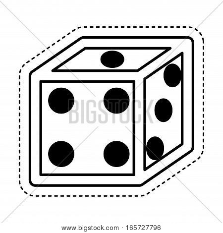 dice game isolated icon vector illustration design