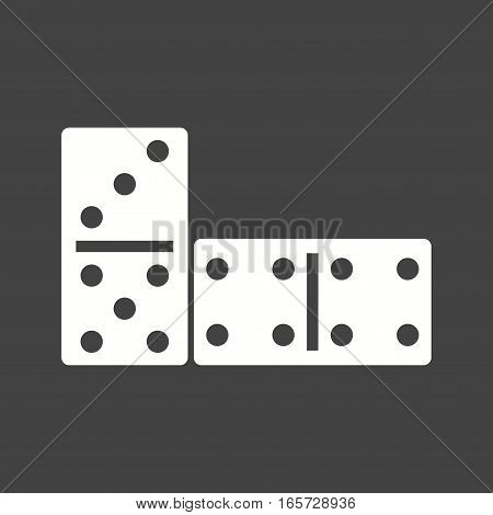 Game, domino, casino icon vector image. Can also be used for casino.