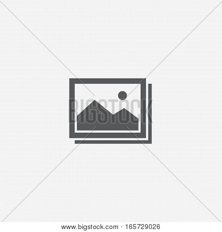 Flat Design of Pictures Gallery with Landscape Icon