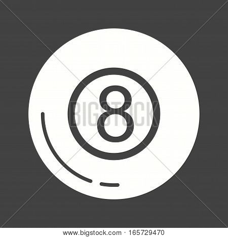 Pool, casino, snooker icon vector image. Can also be used for casino.