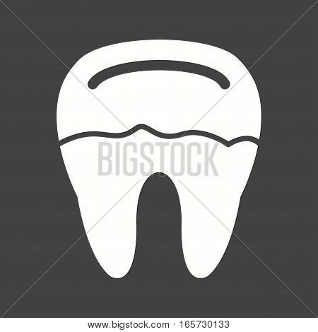 Tooth, decay, dental icon vector image. Can also be used for dentist equipment.
