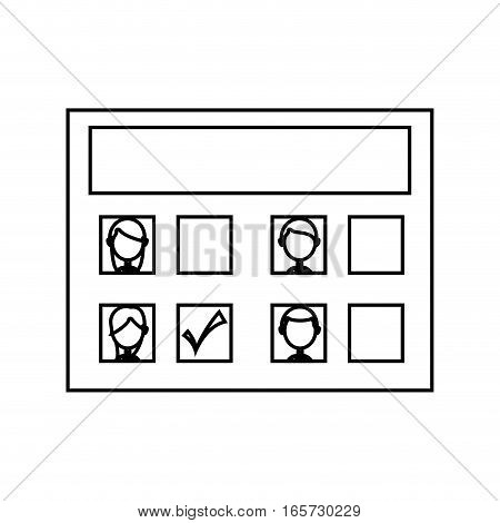 electoral card isolated icon vector illustration design