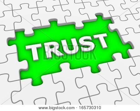 Trust Word And Jigsaw Puzzle