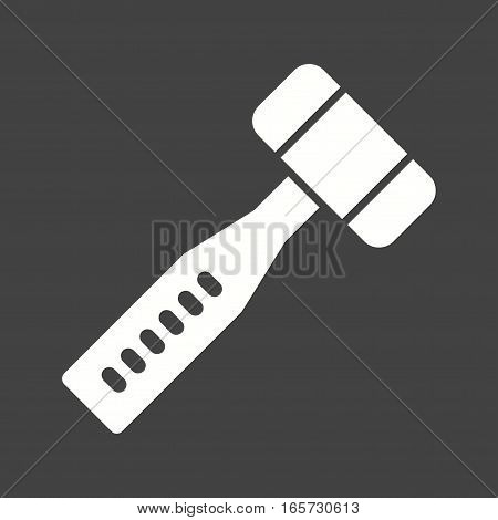 Mallet, dentist, doctor icon vector image. Can also be used for dentist equipment.