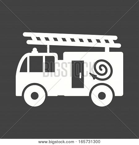 Fire, brigade, truck icon vector image. Can also be used for firefighting.