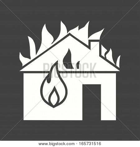 Fire, house, heat icon vector image. Can also be used for firefighting.