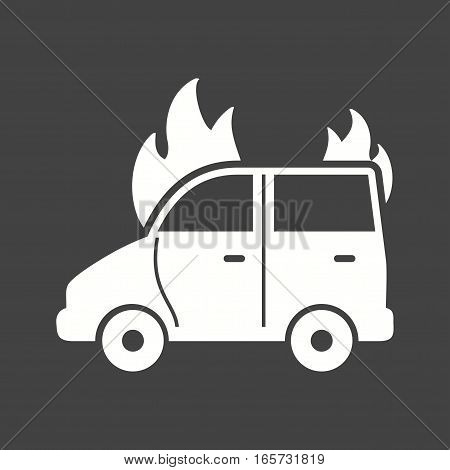 Car, fire, extinguisher icon vector image. Can also be used for firefighting.