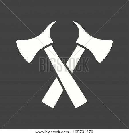 Firefighter, cut, axe icon vector image. Can also be used for firefighting.