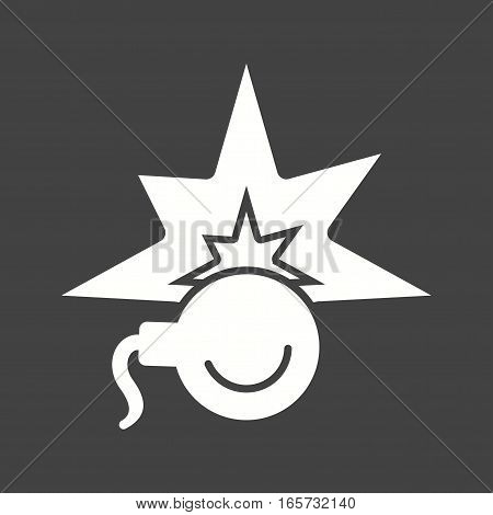 Bomb, time, clock icon vector image. Can also be used for firefighting.