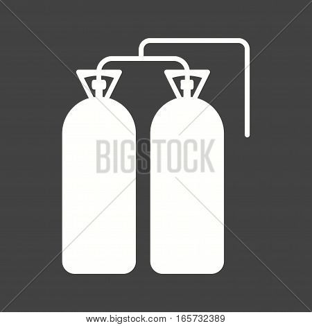 Fire, oxygen, firefighter icon vector image. Can also be used for firefighting.