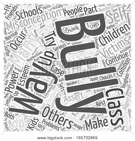 Common Misconceptions About Bullying Word Cloud Concept