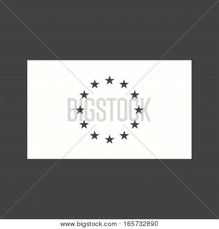 European Union, flag, national icon vector image. Can also be used for flags.