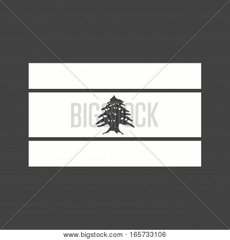 Lebanon, flag, national icon vector image. Can also be used for flags.