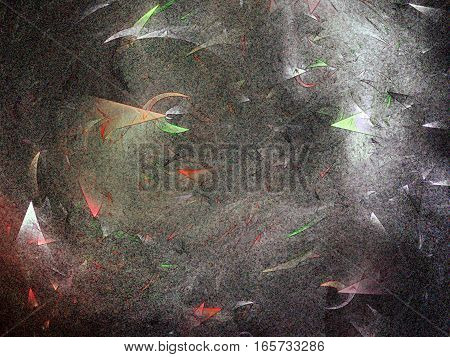 Fractal image similar to ancient cave paintings.