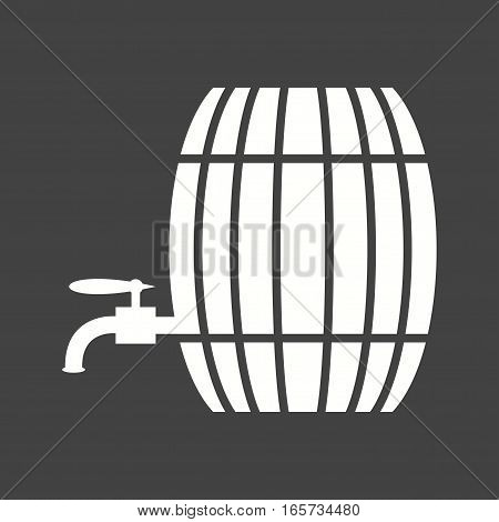 Barrel, tap, wood icon vector image. Can also be used for oktoberfest.