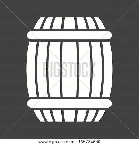 Barrel, wood icon vector image. Can also be used for oktoberfest.