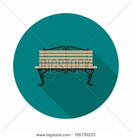 flat icon bench in vector format eps10