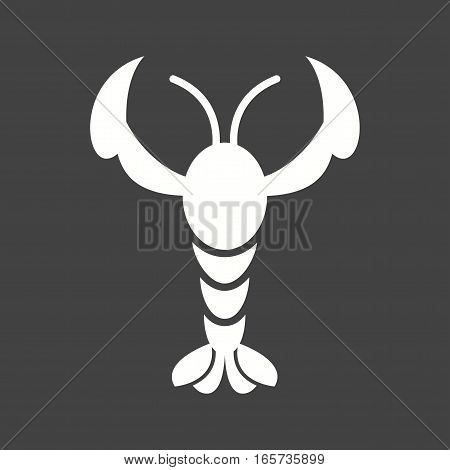 Lobster, seafood, cooked icon vector image. Can also be used for oktoberfest.