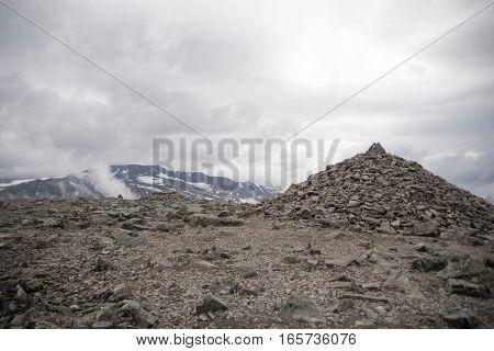 Mountain Hiking In Norway