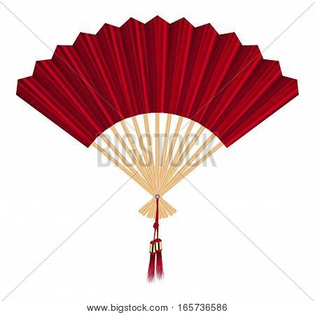 Chinese fan vector on a white background