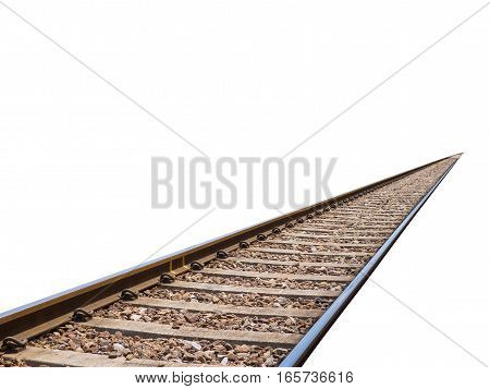 train track isolated from white background for creative idea