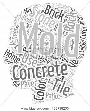 Concrete Paver Molds The Latest Trend in Home Improvement text background wordcloud concept