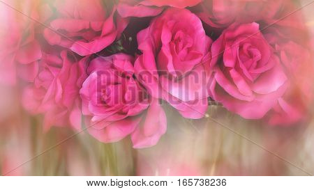 rose made of cloth with soft blurred background