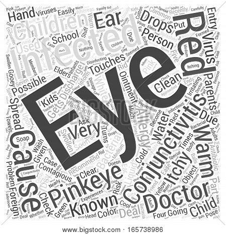 Conjunctivitis or Pinkeye in Children Word Cloud Concept