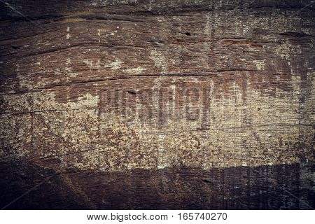 Dark Wood Background, Wooden Board Rough Grain Surface Texture