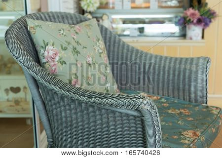 Weave Sofa With Pillow Cushion