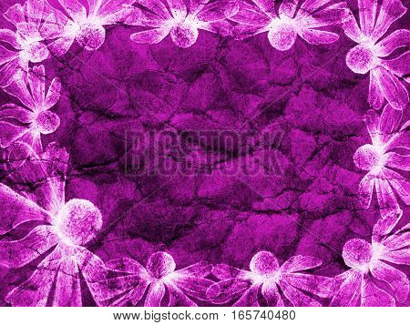 Flower Abstract Line Fantasy Background Gradient Violet Colored