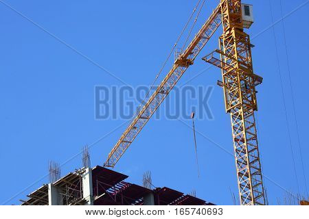 Machinery Crane Construction, Tool Of Building Industry