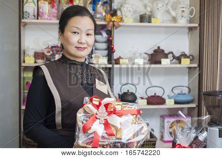 The Seller At The Tea Shop Sells Tea.