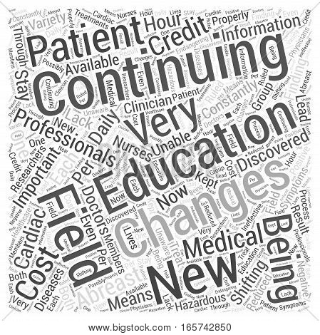 Continuing Medical Education for Cardiac Professionals Word Cloud Concept