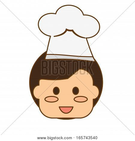 boy happy child with chef hat icon image vector illustration design