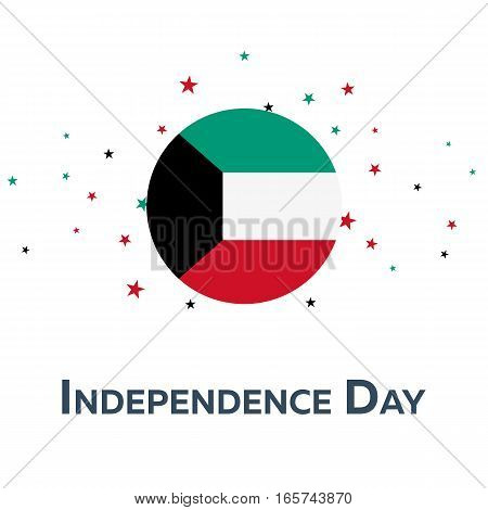 Independence Day Of Kuwait. Patriotic Banner. Vector Illustration.