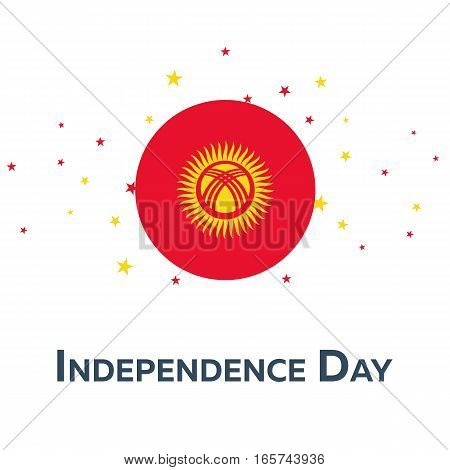 Independence Day Of Kyrgyzstan. Patriotic Banner. Vector Illustration.