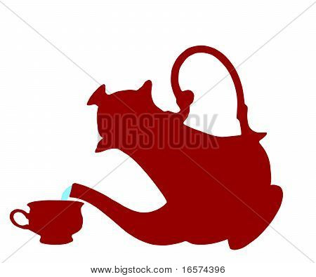 The Teapot And Cup.