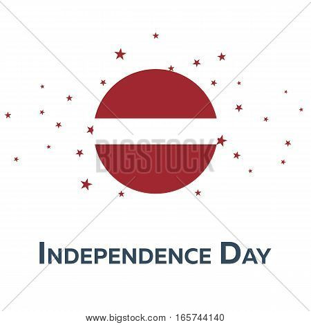 Independence Day Of Latvia. Patriotic Banner. Vector Illustration.