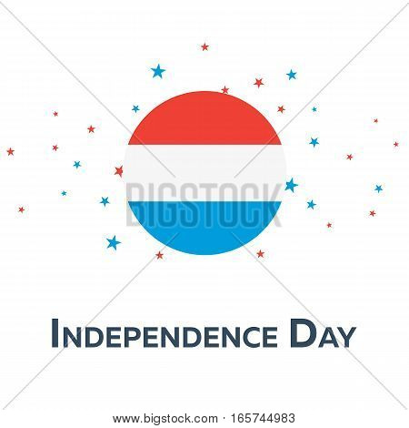 Independence Day Of Luxemburg. Patriotic Banner. Vector Illustration.