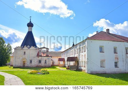 Kirillo-Belozersky monastery by day near City Kirillov Vologda region Russia.