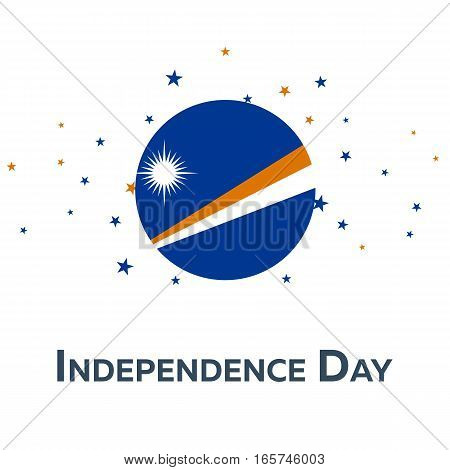 Independence Day Of Marshall Islands. Patriotic Banner. Vector Illustration.