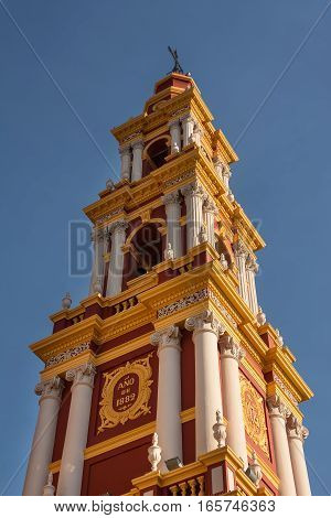 Belfry of Church Saint Francis in Salta (Argentina)